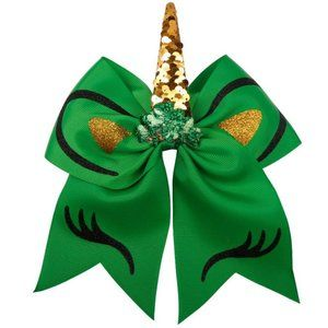 Other - NEW Green Fashion Unicorn Hair Bow